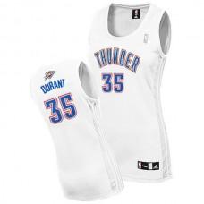 Women's Kevin Durant Oklahoma City Thunder #35 White Jersey