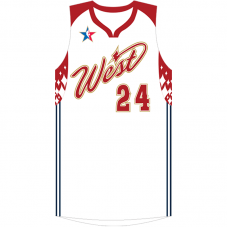 2007 NBA All-Star Kobe Bryant #24 White Jersey