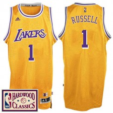 2016-17 Season Los Angeles Lakers #1 Hardwood Classics Throwback Gold Jersey D'Angelo Russell
