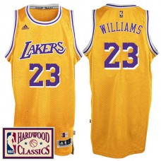2016-17 Season Los Angeles Lakers #23 Hardwood Classics Throwback Gold Jersey Lou Williams