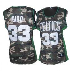 Women's Larry Bird Boston Celtics #33 Soul Swingman Camouflage Jersey