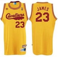LeBron James Cleveland Cavaliers #23 2009 Hardwood Classics Retro Yellow Jersey