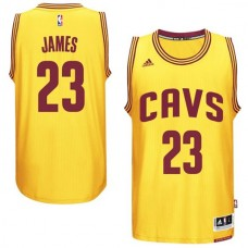 LeBron James Cleveland Cavaliers #23 2014-15 New Swingman Alternate Gold CAVS Jersey