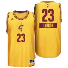 LeBron James Cleveland Cavaliers #23 2014 Christmas Day Yellow Swingman Jersey