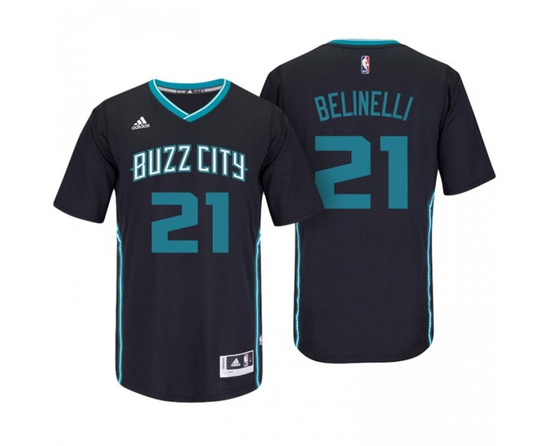 Marco Belinelli Charlotte Hornets #21 Black Buzz City Pride ...
