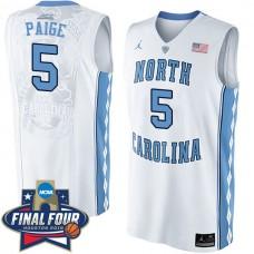2016 Marcus Paige NCAA North Carolina Tar Heels #5 College White Basketball Jersey