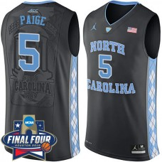2016 Marcus Paige NCAA North Carolina Tar Heels #5 College Black Basketball Jersey