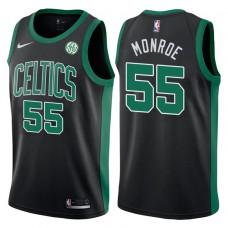 2017-18 Season Greg Monroe Boston Celtics #55 Statement Black Swingman Jersey