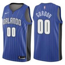 2017-18 Season Aaron Gordon Orlando Magic #00 Icon Blue Swingman Jersey