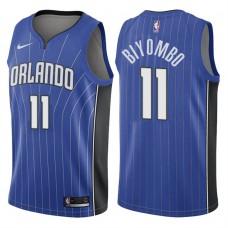 2017-18 Season Bismack Biyombo Orlando Magic #11 Icon Blue Swingman Jersey