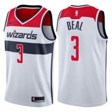 2017-18 Season Bradley Beal Washington Wizards #3 Association White Swingman Jersey