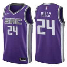 2017-18 Season Buddy Hield Sacramento Kings #24 Icon Purple Swingman Jersey