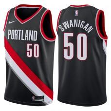 2017-18 Season Caleb Swanigan Portland Trail Blazers #50 Icon Black Swingman Jersey