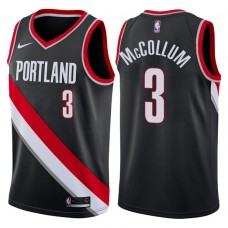 2017-18 Season CJ McCollum Portland Trail Blazers #3 Icon Black Swingman Jersey
