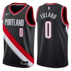 2017-18 Season Damian Lillard Portland Trail Blazers #0 Icon Black Swingman Jersey