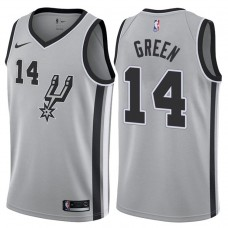2017-18 Season Danny Green San Antonio Spurs #14 Statement Gray Swingman Jersey