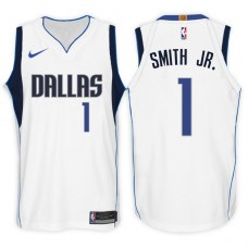 2017-18 Season Dennis Smith Jr. Dallas Mavericks #1 Association White Swingman Jersey