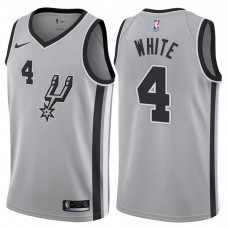 2017-18 Season Derrick White San Antonio Spurs #4 Statement Gray Swingman Jersey