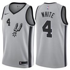 2017-18 Season Derrick White San Antonio Spurs #4 Statement Gray Swingman Jersey