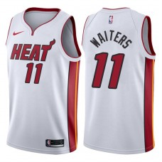 2017-18 Season Dion Waiters Miami Heat #11 Association White Swingman Jersey