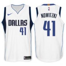 2017-18 Season Dirk Nowitzki Dallas Mavericks #41 Association White Swingman Jersey