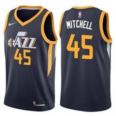 2017-18 Season Donovan Mitchell Utah Jazz #45 Icon Navy Swingman Jersey