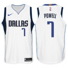 2017-18 Season Dwight Powell Dallas Mavericks #7 Association White Swingman Jersey
