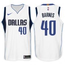 2017-18 Season Harrison Barnes Dallas Mavericks #40 Association White Swingman Jersey