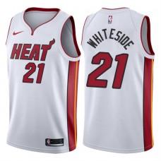 2017-18 Season Hassan Whiteside Miami Heat #21 Association White Swingman Jersey