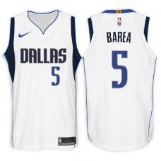 2017-18 Season J.J. Barea Dallas Mavericks #5 Association White Swingman Jersey