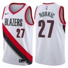 2017-18 Season Jusuf Nurkic Portland Trail Blazers #27 Association White Swingman Jersey