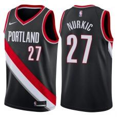 2017-18 Season Jusuf Nurkic Portland Trail Blazers #27 Icon Black Swingman Jersey