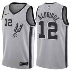 2017-18 Season LaMarcus Aldridge San Antonio Spurs #12 Statement Gray Swingman Jersey