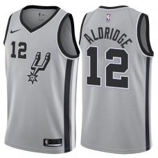 2017-18 Season LaMarcus Aldridge San Antonio Spurs #12 Statement Gray Swingman Jersey