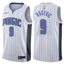 2017-18 Season Nikola Vucevic Orlando Magic #9 Association White Swingman Jersey