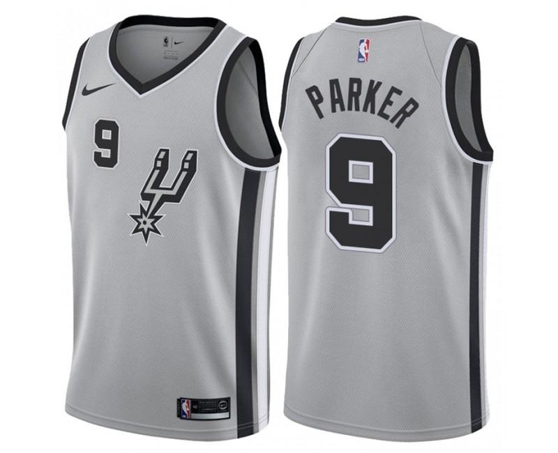 2017-18 Season Tony Parker San Antonio Spurs #9 Statement Gray ...