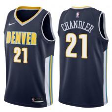2017-18 Season Wilson Chandler Denver Nuggets #21 Icon Navy Swingman Jersey