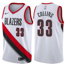 2017-18 Season Zach Collins Portland Trail Blazers #33 Association White Swingman Jersey
