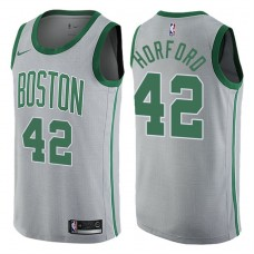 2017-18 Season Al Horford Boston Celtics #42 City Edition Gray Swingman Jersey