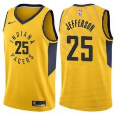 2017-18 Season Al Jefferson Indiana Pacers #25 Statement Gold Swingman Jersey