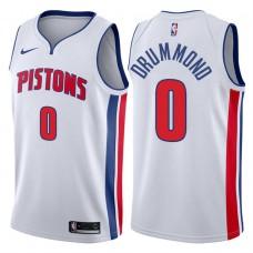 2017-18 Season Andre Drummond Detroit Pistons #0 Association White Swingman Jersey