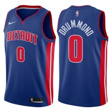 2017-18 Season Andre Drummond Detroit Pistons #0 Icon Blue Swingman Jersey