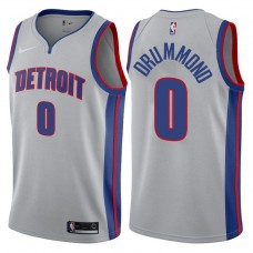 2017-18 Season Andre Drummond Detroit Pistons #0 Statement Gray Swingman Jersey