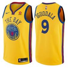 2017-18 Season Andre Iguodala Golden State Warriors #9 City Edition Gold Swingman Jersey