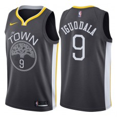 2017-18 Season Andre Iguodala Golden State Warriors #9 Statement Gray Swingman Jersey