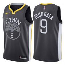 2017-18 Season Andre Iguodala Golden State Warriors #9 Statement Gray Swingman Jersey