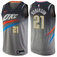 2017-18 Season Andre Roberson Oklahoma City Thunder #21 City Edition Gray Swingman Jersey