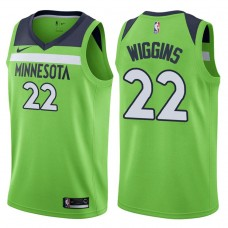 2017-18 Season Andrew Wiggins Minnesota Timberwolves #22 Statement Green Swingman Jersey