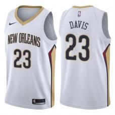 2017-18 Season Anthony Davis New Orleans Pelicans #23 Association White Swingman Jersey