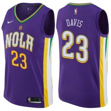 2017-18 Season Anthony Davis New Orleans Pelicans #23 City Edition Purple Swingman Jersey